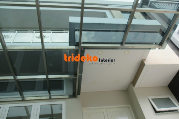 canopy kaca stainless steel